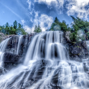 Waterfall by Astrid Hagland Gjerde - Landscapes Waterscapes ( color, waterfall )