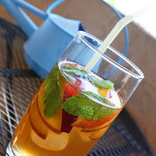 Peach and Mint Iced Tea.