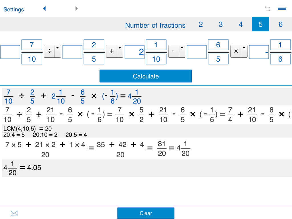 Fraction calculator XL - Android Apps on Google Play