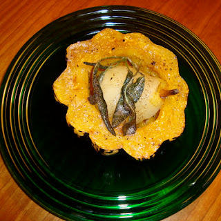 Roasted Sweet Dumpling Squash with a Poached Pear
