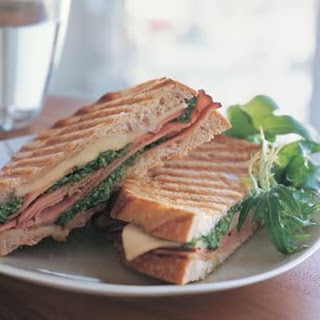 Fontina, Ham and Pesto Panini.