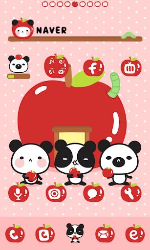 판다 사과 도돌런처 테마