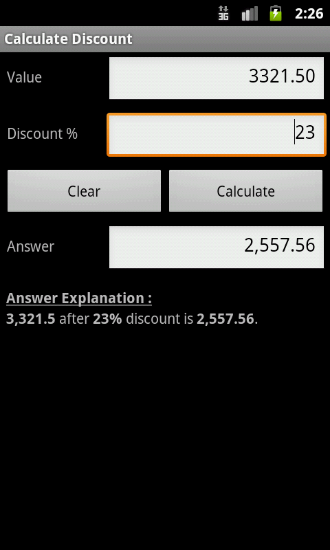 Percent Calculator  +- screenshot
