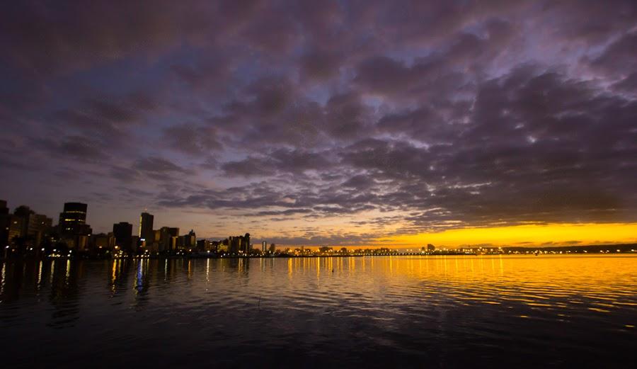 Durban Harbour by Gavin Fundi - Landscapes Sunsets & Sunrises