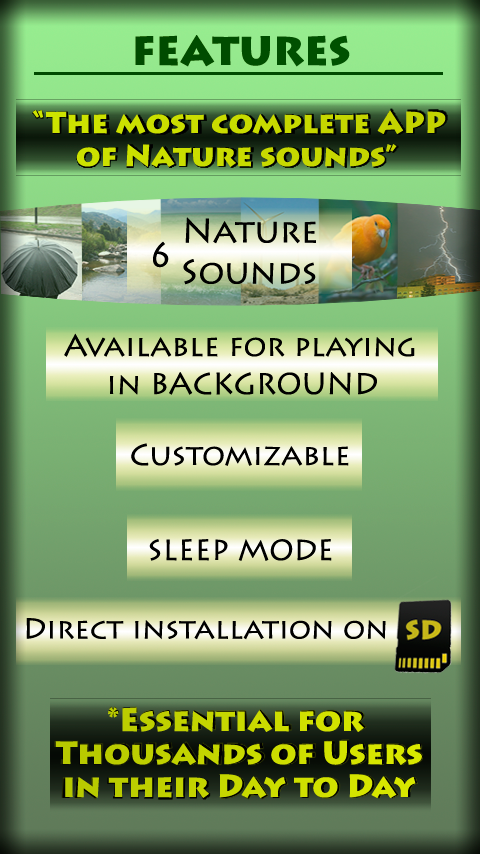 Nature relax music - screenshot