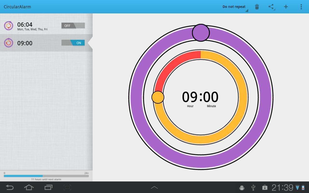 CircularAlarm- screenshot