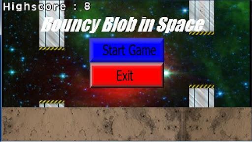 Bouncy Blob In Space