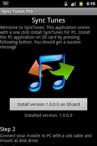 Synctunes usb for iTunes- screenshot