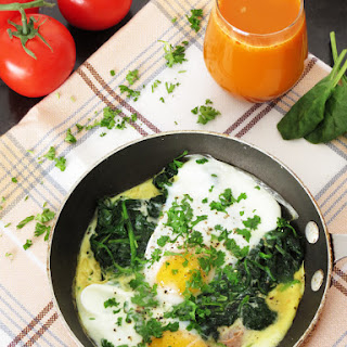 Spinach Poached Eggs.