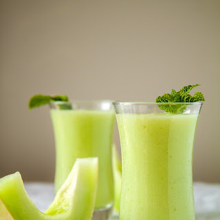 Sweet Honeydew and Mint Smoothie.