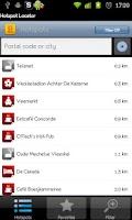 Screenshot of Telenet Hotspot Locator