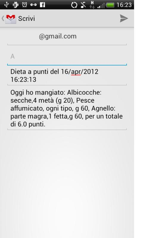 Dieta a Punti - screenshot