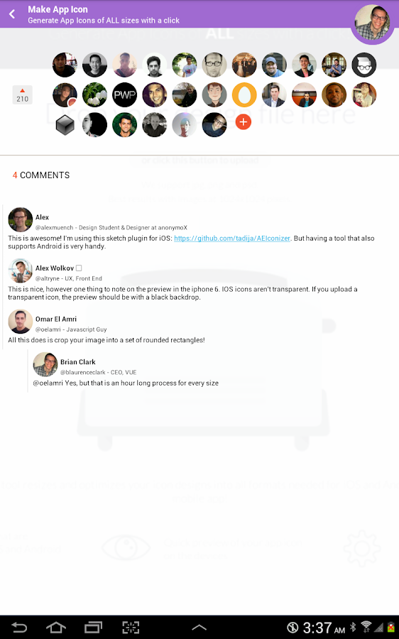 Visual Hunt for Product Hunt- screenshot