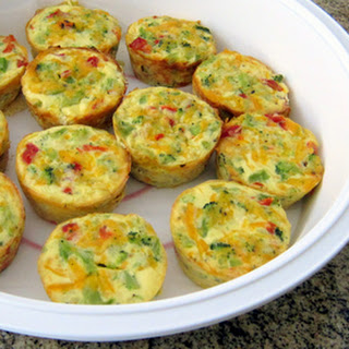 Mini Crustless Broccoli Quiches
