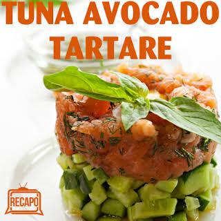 Tuna Tartare And Wonton Chips.