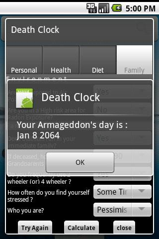 Death Clock- screenshot
