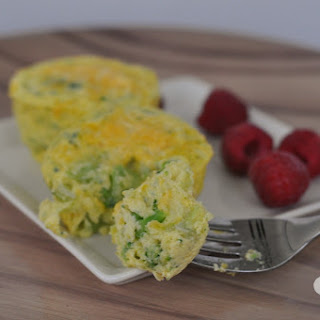 Broccoli and Cheese Egg Muffins.