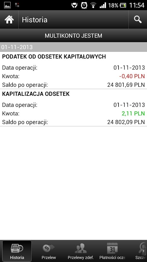 mBank - former MultiBank- screenshot
