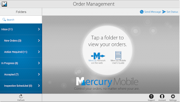 Screenshot of Mercury Mobile for Android