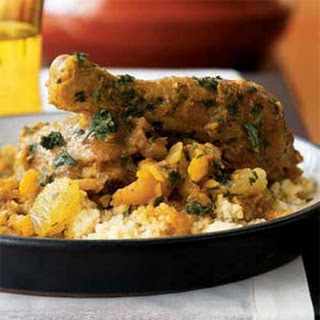 Chicken, Date, and Apricot Tagine.