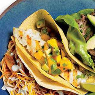 Fish & Mango Salsa Tacos
