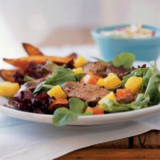 Grilled Jamaican Pork Tenderloin Salad.