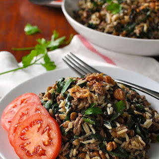 Middle Eastern Lamb and Lentil Rice Pilaf