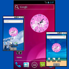 Pink Volleyball Clock icon