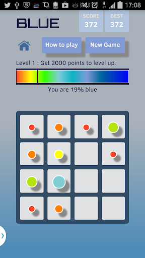 BLUE - Color 2048 Puzzle Game