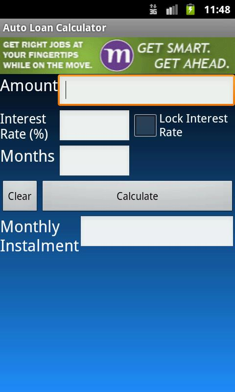 Auto Loan Rule 78 Calculator - screenshot
