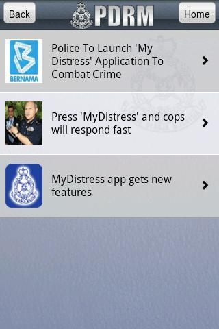 MyDistress- screenshot