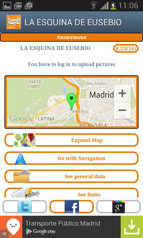 taapas.es (Spanish free tapas) - screenshot