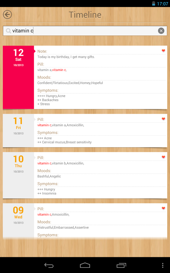 Calendario de periódo - screenshot