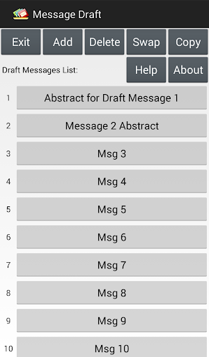 Message Draft