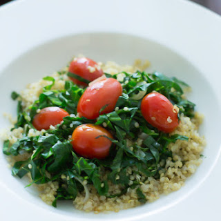 Warm Collard Quinoa Salad