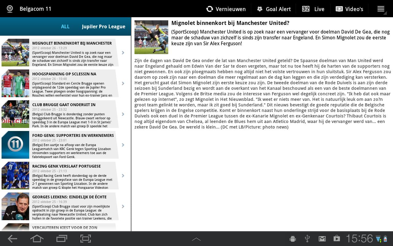 Belgacom 11 Tablet - screenshot