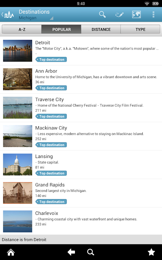 Michigan Guide by Triposo - screenshot