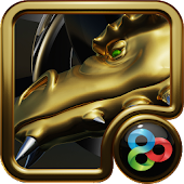 GO Launcher Theme Gold Dragon