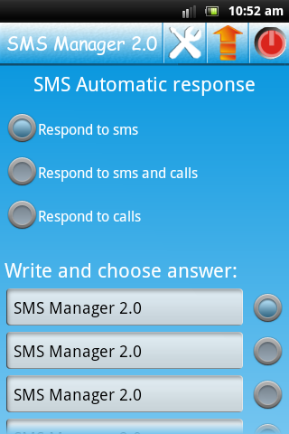 SMS Auto Reply- screenshot