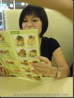 Taking order in Cafe Nelson Tan, Kepong