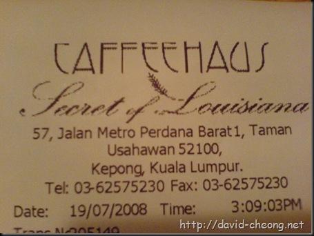 CaffeeHaus Addrss