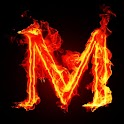 3D burning M code logo