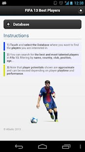 FIFA 13 Best Players - screenshot thumbnail