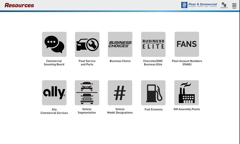 GM Fleet Guide- screenshot