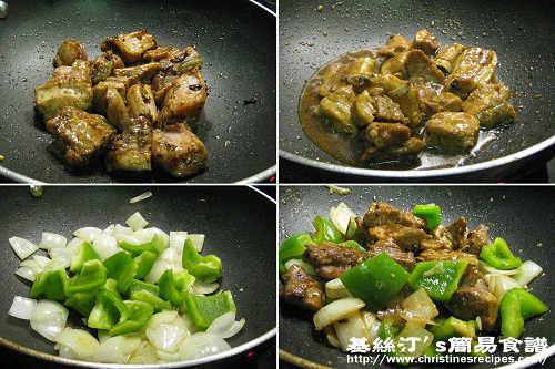 豉椒排骨製作圖 Stir-fried Pork Ribs in Black Bean Garlic Sauce Procedures