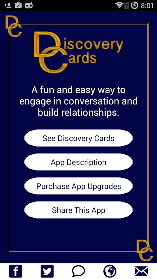 Discovery Cards- screenshot
