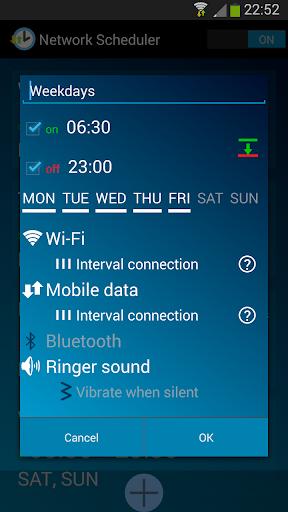 Network Scheduler Wifi 3G BT