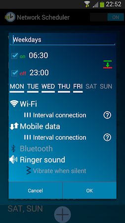 Network Scheduler Wifi 3G BT 1.6 screenshot 1353626