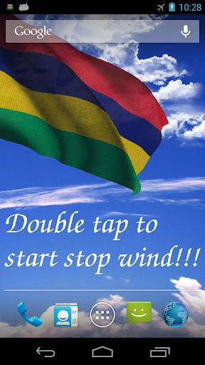 3D Mauritius Flag LWP
