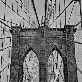 Brooklyn bridge by Berrin Aydın - Black & White Buildings & Architecture ( bridge, new york,  )